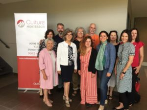 Photo du conseil d'administration 2019 de Culture Montérégie